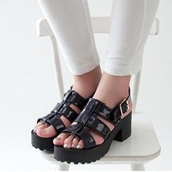 Mancienne - Gladiator Chunky Heel Sandals