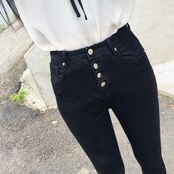 Deerie - High-Waist Skinny Jeans