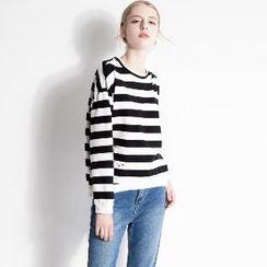 Halona - Striped Knit Top
