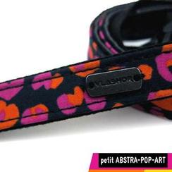 Vlashor - 幼-蓝色底粉红橙色图案相机带