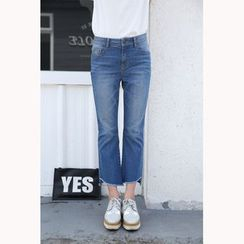 Denimot - Cropped Boot Cut Jeans