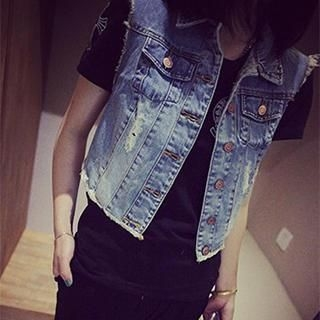 DreamyShow - Distressed Denim Vest
