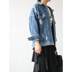 STYLEBYYAM - Distressed Denim Jacket