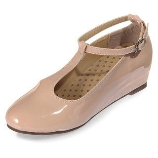 yeswalker - T-Strap Patent Wedges