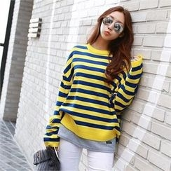 PIPPIN - Striped Loose-Fit Knit Top