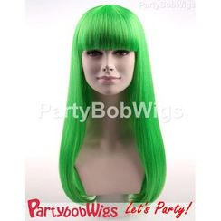 Party Wigs - PartyBobWigs - Party Long Bob Wig - Green