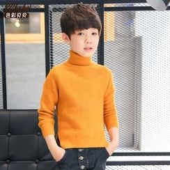 Babee - Kids Turtleneck Knit Top
