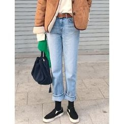FROMBEGINNING - Washed Boyfriend Jeans