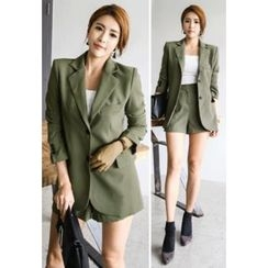 INSTYLEFIT - Notched Lapel Single-Breasted Blazer