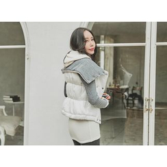 UUZONE - Rib-Knit Padded Jacket