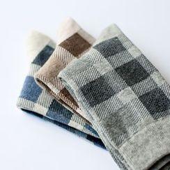 LIFEDIFF - Set of 3: Checked Socks