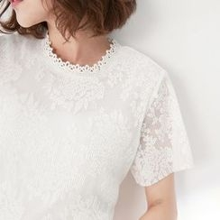 Tokyo Fashion - Short-Sleeve Lace Top