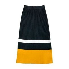 Jack Grace - Color-Block Maxi Knit Skirt