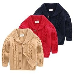 lalalove - Kids Cable-Knit Cardigan