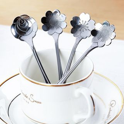 Yulu - Stainless Flower Tea Spoon