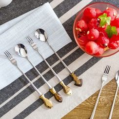 Home Simply - Fish-Accent Long Spoon / Fork