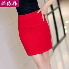 Loverac - Slim Package Hip Skirt