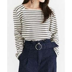 Someday, if - Square-Neck Striped T-Shirt