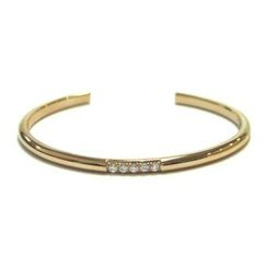 Kenny & co. - Ip Rose Gold Bangle With Crystals
