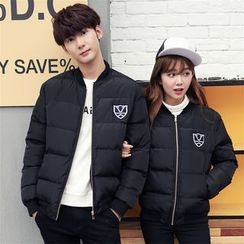 Simpair - Couple Matching Embroidered Padded Jacket