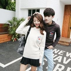 Simpair - Couple Matching Panda Embroidered Hoodie