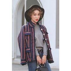PPGIRL - Fringed-Trim Tweed Jacket
