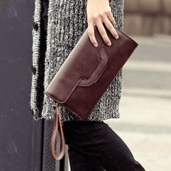 BagBuzz - Faux Leather Envelope Clutch