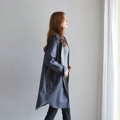 JUSTONE - Collared Zip-Up Coat