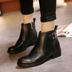 Monde - Buckled Ankle Boots
