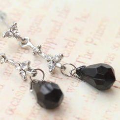 Fit-to-Kill - Black Tears Diamond Earrings