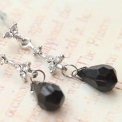 Fit-to-Kill - Black Tears Diamond Earrings