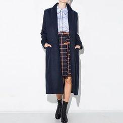 Richcoco - 純色羊毛大衣