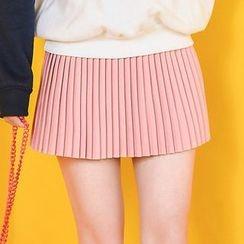 Moriville - Pleated Mini Skirt