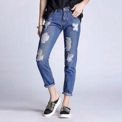 Richcoco - Distressed Jeans
