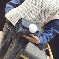 薇薇 - 球球装饰斜挎包