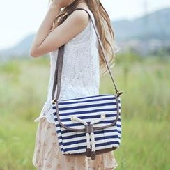 SUPER LOVER - Striped Cross Bag