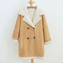 Angel Love - Fleece Lined Double Breasted Coat