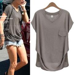 VIZZI - 斜擺短袖T恤