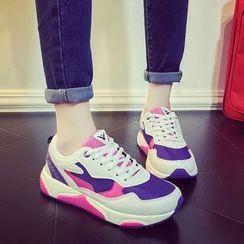 HOONA - Paneled Platform Sneakers
