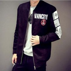 Consto - Flag Letter Baseball Jacket