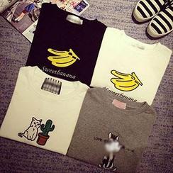 QZ Lady - Short-Sleeve Cartoon Printed T-Shirt