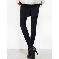GUMZZI - Fleece-Line Slit-Side Skirt