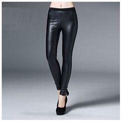 Ozipan - Faux-Leather Leggings