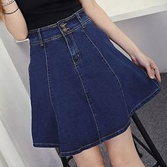 Honey House - A-line Denim Skirt