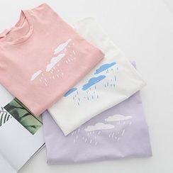 Meimei - Short-Sleeve Print T-Shirt