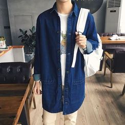 Besto - Number Long Denim Jacket