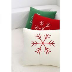 iswas - Embroidered Snowflake Cushion Cover