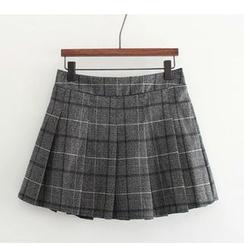 Citree - 百褶格子裙
