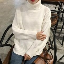 Bloombloom - Plain Turtleneck Sweater