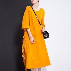 Halona - Fringed Shift Dress